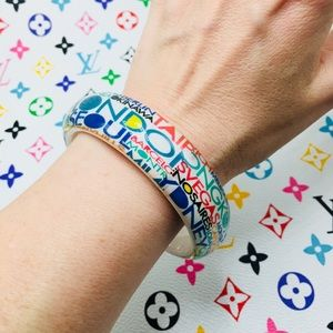 Jewelry - Bangle bracelet World cities blue green white